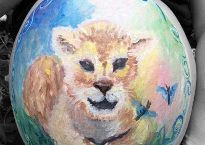Babybauch-Löwenbaby